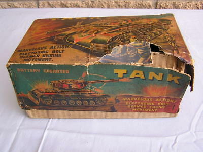 Vintage Tin Plate Battery Operated Tank