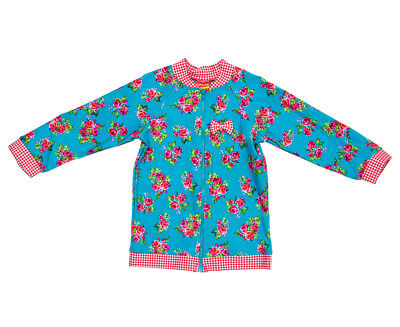 Cupid Girl Baby/Toddler Spring Picnic Long Sleeve UPF50+ Zipper Rash Vest - Blue