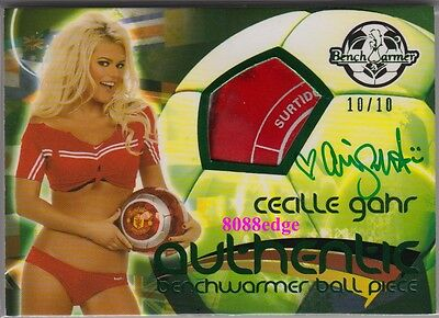 2010 Benchwarmer Ball Swatch Autograph: Cecille Gahr #10/10 International Auto