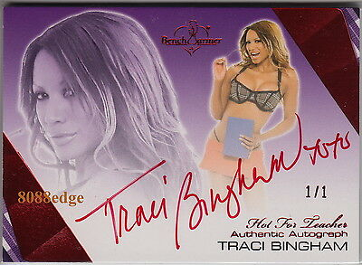 2012 Benchwarmer Hot For Teacher Auto: Traci Bingham #1/1 Of One Red Autograph