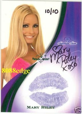 2008 Benchwarmer Ss Kiss Green Auto: Mary Riley #10/10 Autograph