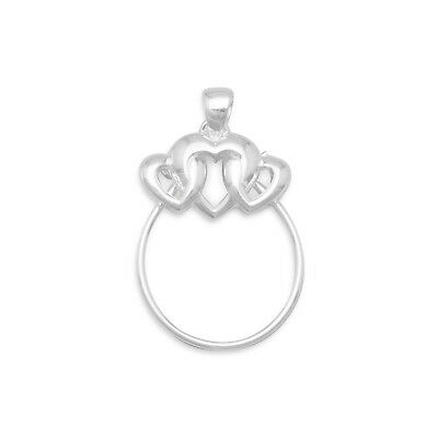 925 Sterling Silver LIL SIS HEART Miniature Small Sister Pendant t03391