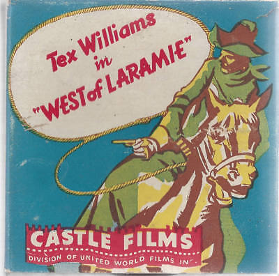 1930's Tex Williams in WEST OF LARAMIE 16mm Film Strip in Box. Castle Films