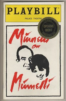 "Liza Minnelli   ""Minnelli on Minnelli""   Playbill   1999  OPENING NIGHT"