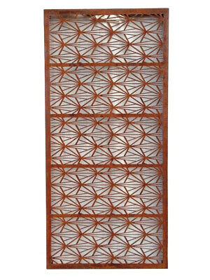 Decorative Metal Garden Screen Wall Art - Real Rust 190Cm X 90Cm X 3Cm - D65