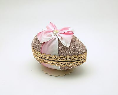 Easter Decoration Egg Candy Container Paper Mache