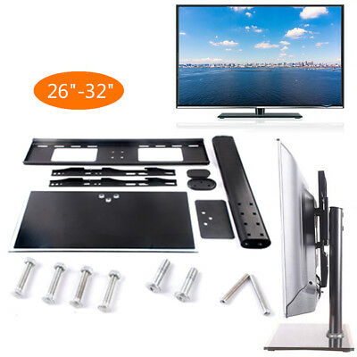"""New Table Top Replacement TV Pedestal Stand Base fits 26""""-32"""" For LED LCD Plasma"""