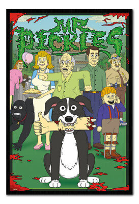 Framed Mr Pickles Characters Poster New