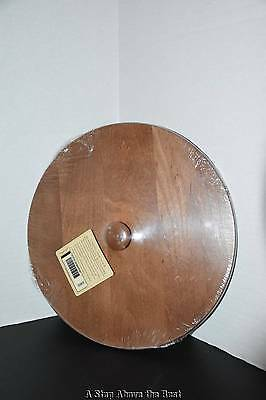 Longaberger Scalloped Waste Woodcraft Lid in Rich Brown With Knob #5038333 New