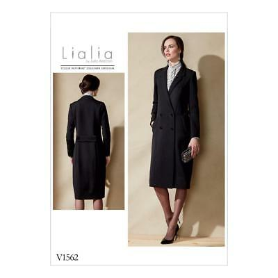 Vogue Sewing Pattern Designer Misses' Lialia Designer Coat Size 6 - 22 V1562