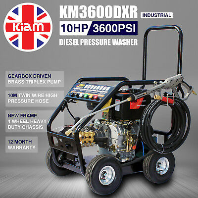£12/WEEK on LEASE Kiam Diesel Pressure Jet Washer KM3600DXR - Gearbox Version