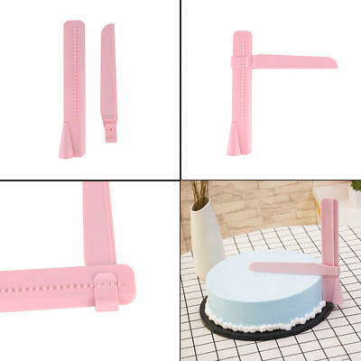 Adjustable Fondant Cake Scraper Icing Piping Cream Spatula Edges Smoother HS
