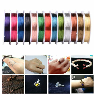 10 Colors Soft Copper Wire/Wire Line For DIY Jewelry Making 0.3 0.4 mm Fine