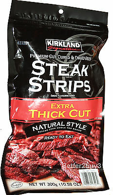 Steak Jerky Thick Strips 300g High Protein Dried Beef