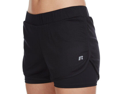 Russell Athletic Women's 2-In-1 Mesh Short - Fuel