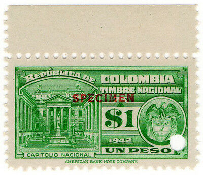 (I.B) Colombia Revenue : State Duty $1 (ABN specimen)