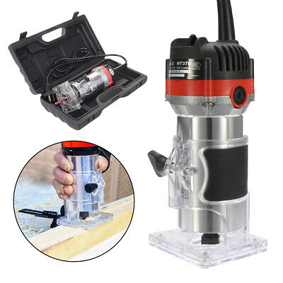 220V 530W 35000RPM 1/4'' Electric Hand Trimmer Wood Laminator Router Tool Set