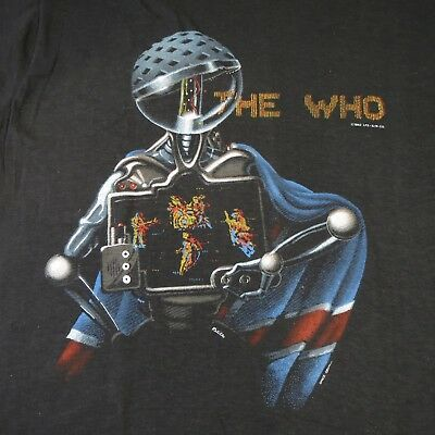THE WHO Screen Stars Vintage 80's T Shirt  50/50  XL -- NEW DEADSTOCK WITH TAG