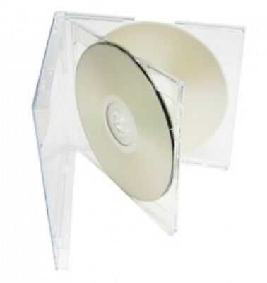 100 STANDARD Clear Triple 3 Disc CD Jewel Case