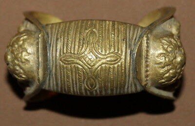 Antique Greek Orthodox brass crusader fertility bracelet
