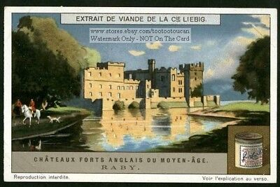 Raby Castle England Britain History Chateau1920s Trade Ad Card