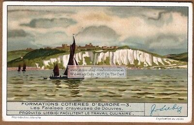 The White Cliffs Of Dover England Douvres Britain 1930s Trade Ad Card