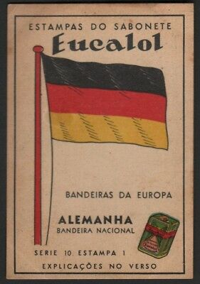 Flag of Germany - Alemanha c1949 Trade Advertising Card