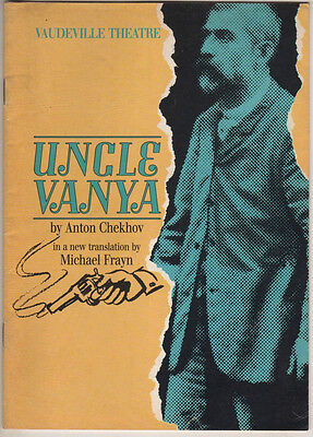 "Greta Scacchi, Jonathan Pryce ""Uncle Vanya""  Playbill London 1988"