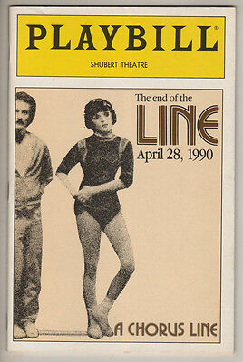 """A Chorus Line""  FINAL PERFORMANCE  Playbill 1990 ""The end of the Line"""