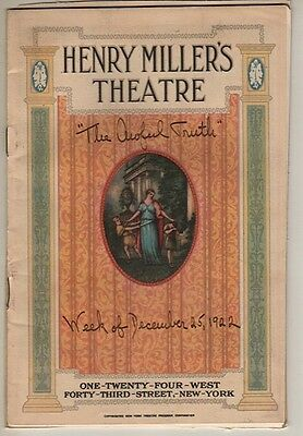"Ina Claire Playbill ""The Awful Truth"" 1922 Bruce McRae Broadway"