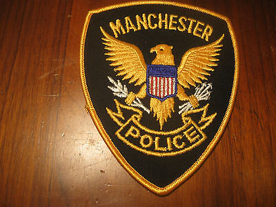 Manchester Iowa Police Patch (Stock Eagle Style)