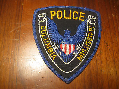 Columbia Mississippi Police Patch (Stock Eagle)