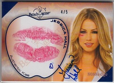 2011 Benchwarmer Kiss Auto: Jessica Hall #4/5 Hot For Teacher Autograph Playboy