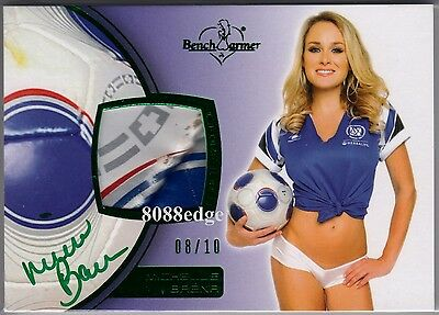 2012 Benchwarmer Soccer Ball Auto:michelle Baena #8/10 Swatch Autograph Playboy