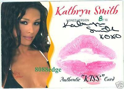 2003 Benchwarmer Autograph Auto Kiss: Kathryn Smith #8/10 Siganture Signed Card