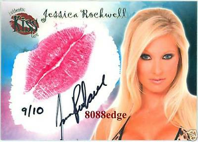 2007 Benchwarmer Kiss Auto #7: Jessica Rockwell #9/10 Autograph