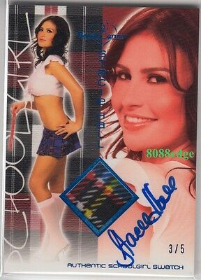 "2011 Benchwarmer School Girl Swatch Auto: Stacie Hall #3/5 Autograph ""The Hills"""