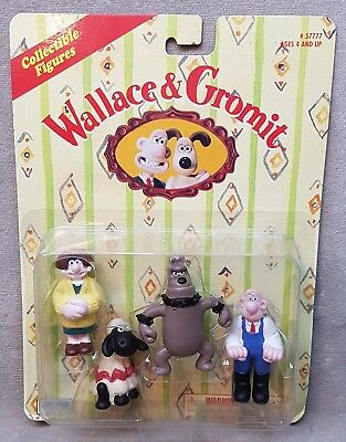 1989 Wallace & Gromit Figures Carded.