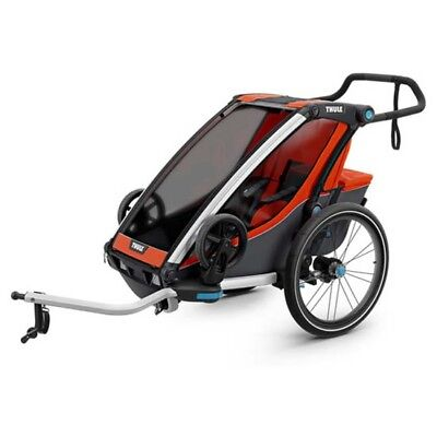 Thule Chariot Cab 1 + Kit De Bici 1 Places Orange Carritos niño