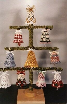 Hardanger Lace Bells Pattern #1- Your Choice of 9 Designs