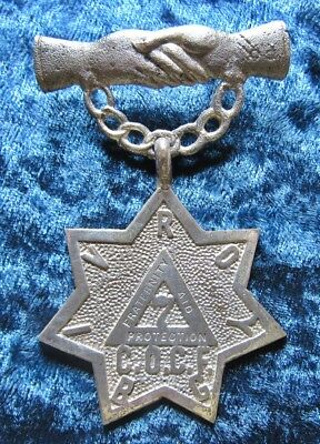 Antique Silver Tone The Canadian Order of Chosen Friends Insurance Fraternity