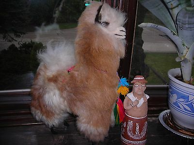 LLama,real fur covered ,larger size figurine