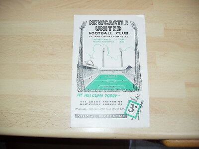 Newcastle v All-Stars Select XI Norman Smith Testimonial 1959/60
