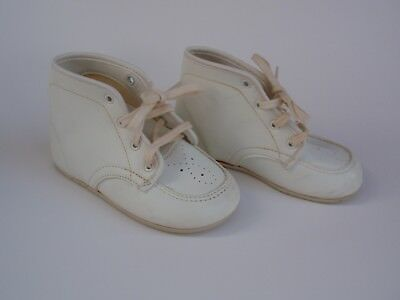 Vintage Baby Deer Cuddle Back Trainers White Shoes USA Made Sz 3W First Shoe