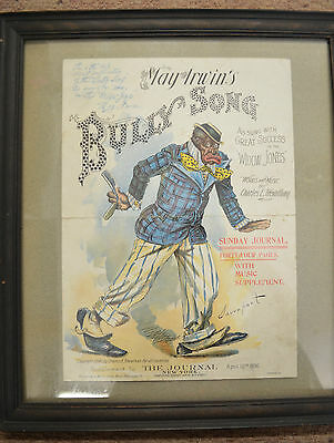 Vintage Sheet Music May Irwin's 'Bully Song' 1895