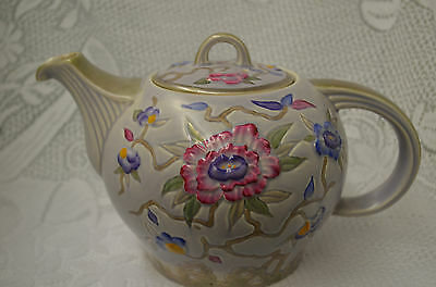 Art Deco Wood & Son's Chinese Rose Teapot