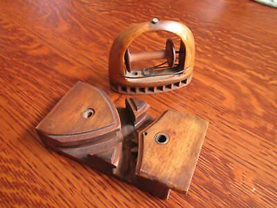 Vintage Wooden Shuttle Curved Track, working gears Number 35