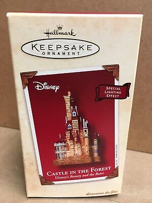 Hallmark 2002 Castle in the Forest Beauty and the Beast Disney Movie Ornament
