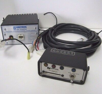 Federal Signal FP-183K-LV Control Box & Unitrol 80K Amplifier W/ 12 Pin Cable