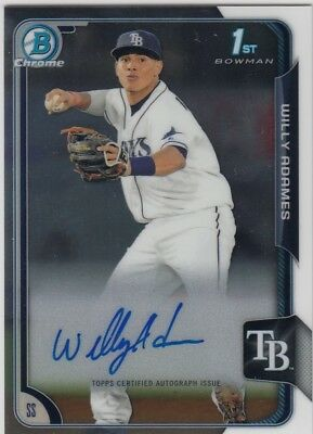 2015 Bowman Chrome WILLY ADAMES Auto Autograph Rc Rays